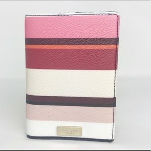 Kate Spade New York   Pink Stripe Passport Holder